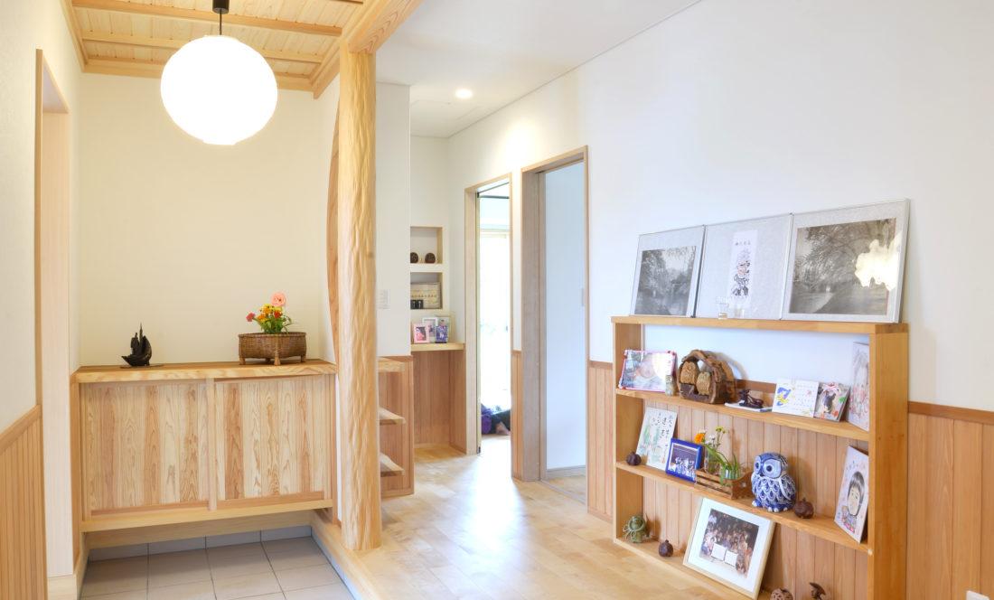 柔らかい雰囲気の玄関